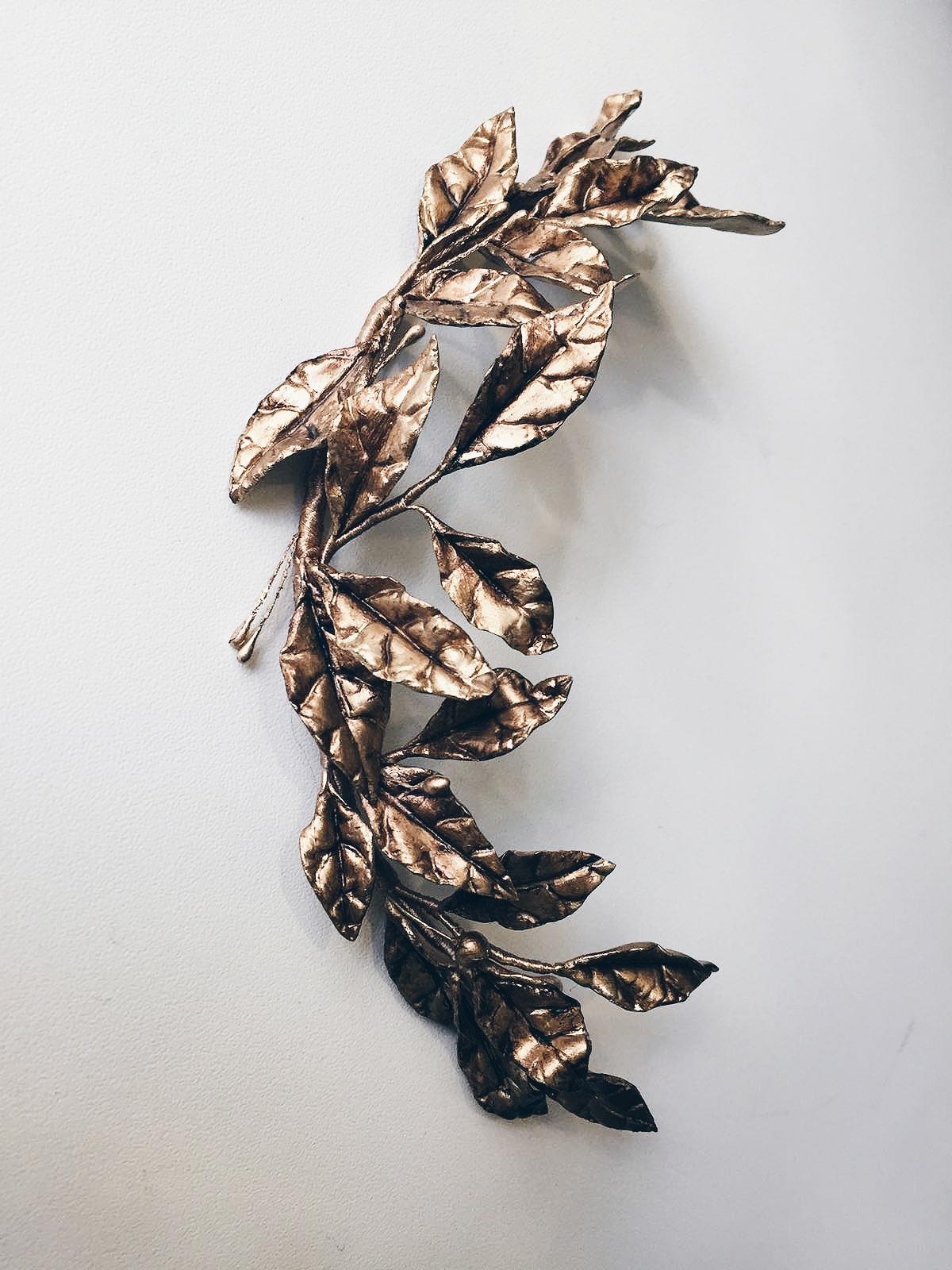 Semicorona porcelana hojas (posibilidad de hacer en otros tonos)