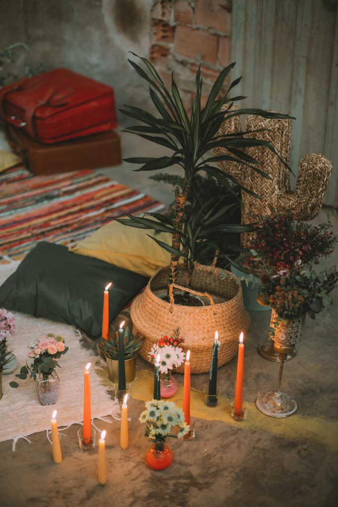 Decoration of the industrial wedding