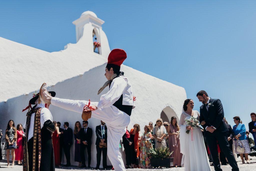 Baile payés en la boda de Raquel y Juanjo en Ibiza