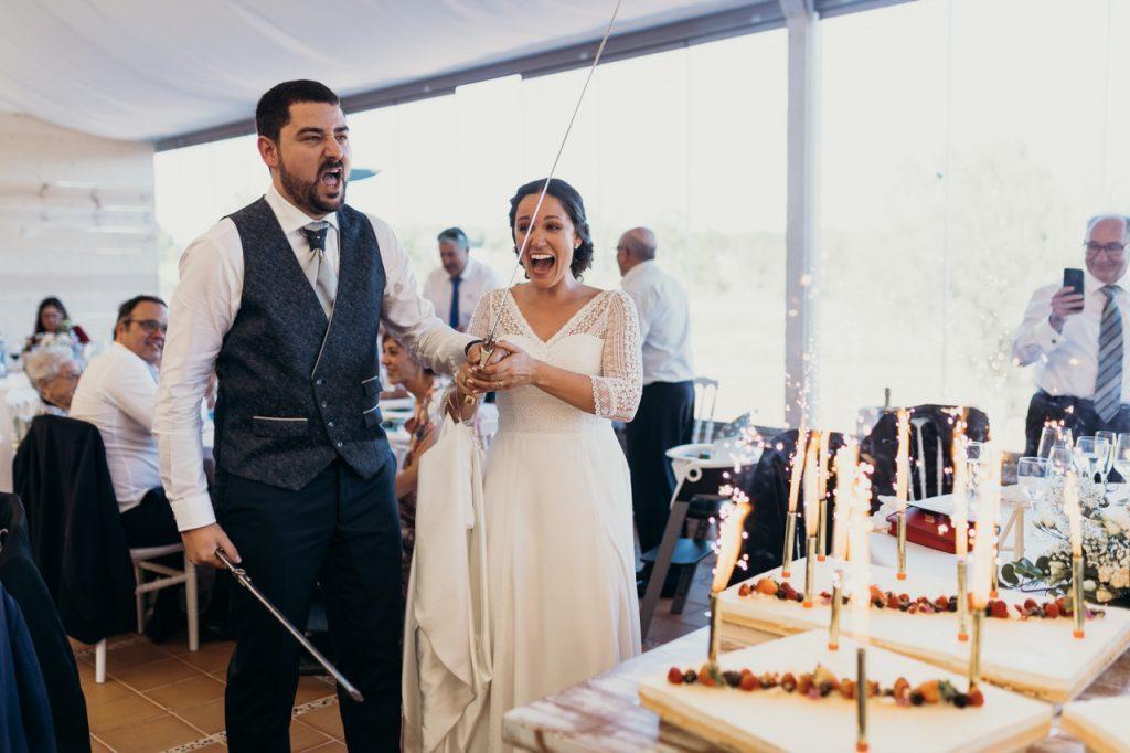 Cortando la tarde en la boda de Raquel y Juanjo en Ibiza